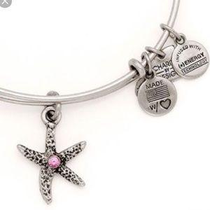 Alex and Ani Pink Starfish Charm Bracelet